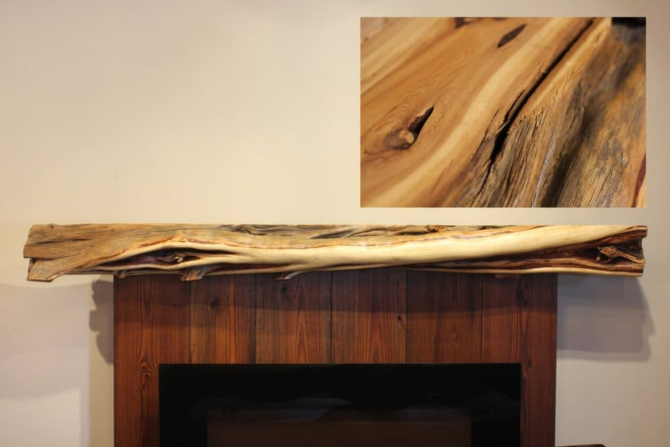 juniper fireplace mantel