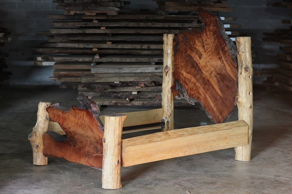 Custom Rustic log beds