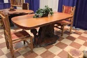 slab wood table
