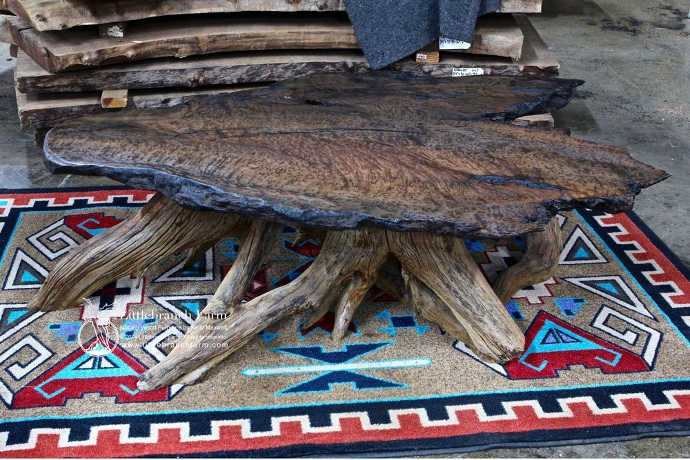 Natural wood coffee table