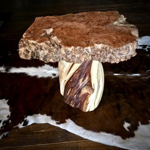Maple burl wood table